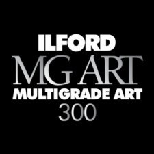 Ilford Multigrade Art 300, Variable Contrast, Black and White Matte Surfaced Fiber Based Photo Paper on a Textured Fine Art Base, 11x14'', 30 Sheets by Ilford