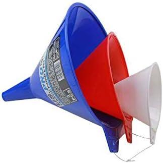 180mm Diameter 3011 130 US PRO 3 Piece Plastic Funnel Set 90