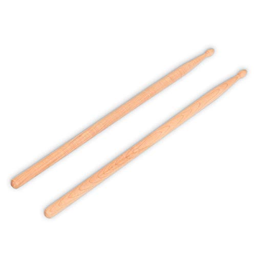USA_Best_Seller 1 Pair 2B Maple Wood Drum Sticks with Bag Hickory Music Pairs Instrument Kit Smooth Comfortable Practice Lightweight Durable Useful