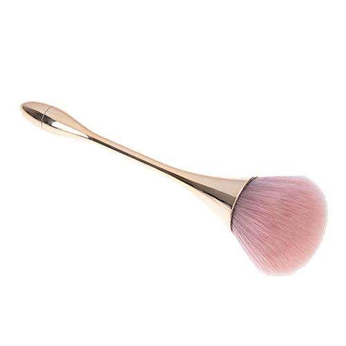 - 1X Oval Top Makeup Foundation Blush Contour Highlight Blending Brush TEUS (Color - Gold)