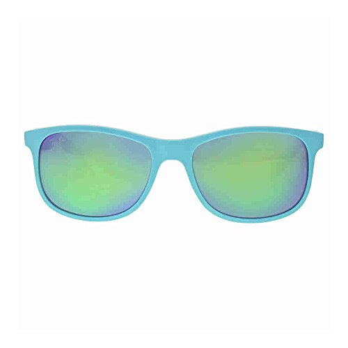 3c1c3c6e12 Ray-Ban ANDY - MATTE TURQUOISE Frame GREEN MIRROR GREEN Lenses 55mm Non- Polarized - Buy Online in Oman.