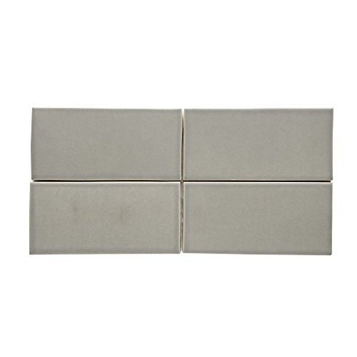 Waterworks Architectonics Field Tile 4 1/4 x 8 Bullnose Single (Short) in Gray Matte by Water Works
