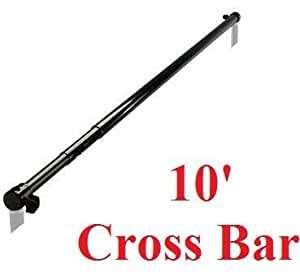 CanadianStudio New Background Support Backdrop Stand 10 feet Fully Extendable Cross Bar Fit all type of light stands