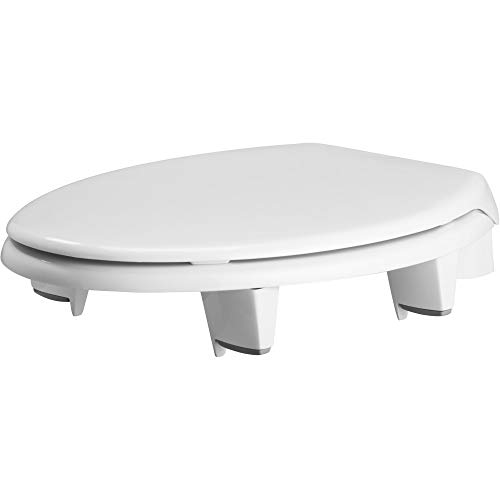 Bemis Independence 7YE82300TC 000 Closed-Front Elevated/Raised Toilet Seat with 3
