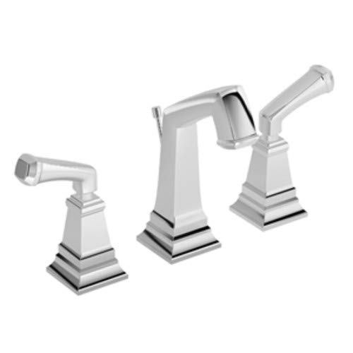 Symmons SLW-4212-1.5 Oxford Widespread Bathroom Faucet - Includes Metal Pop-Up D