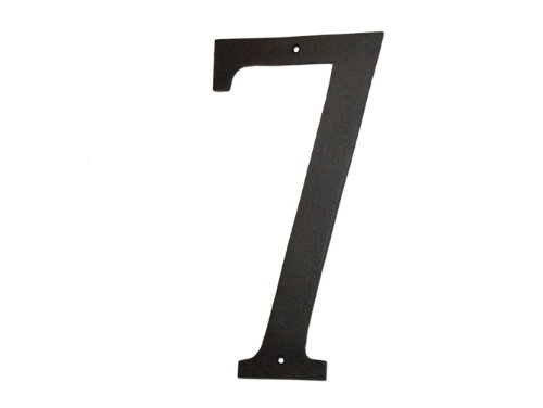 Montague Metal Products Standard Font Individual House Number, 7, (Usa House)