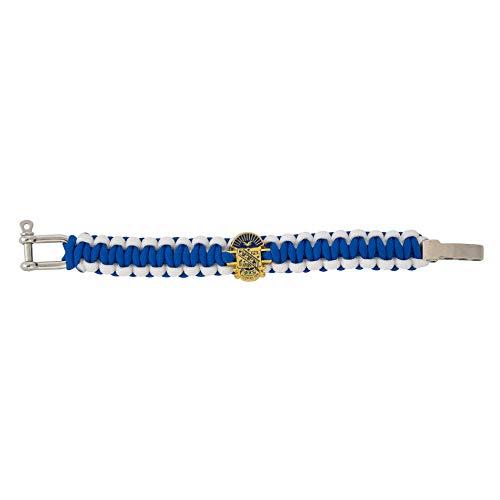 Phi Beta Sigma Fraternity Gold Crest Paracord Bracelet - Adjustable Size (Gold) ()