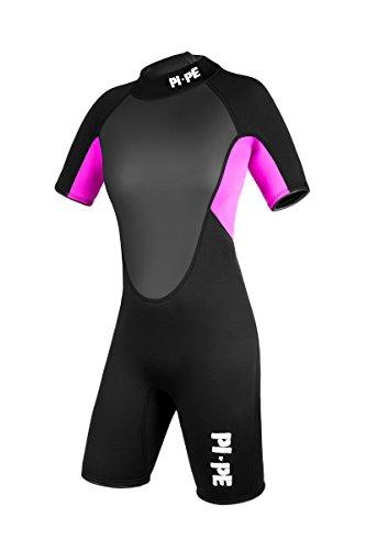PI-PE Damen Neoprenanzug Pro Spring Short Sleeve, Pink, M, PNPR-4-P