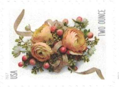 2017 Celebration Corsage Two Ounce Forever Full Sheet of 20 Postage Stamps Scott 5200