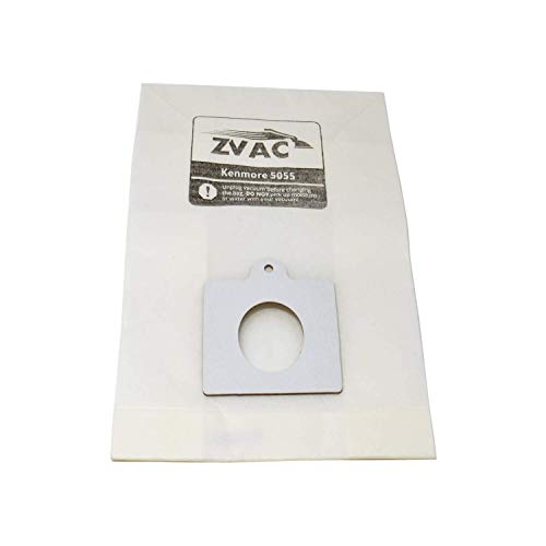 - ZVac Kenmore Style C/Q Micro Filtration Canister Cloth Vacuum Bags Similar to 50558, 5055, 50557, 30 Pack