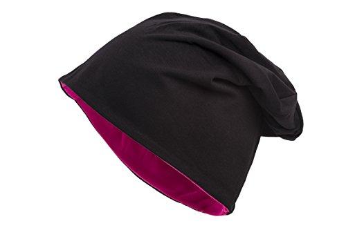 Disponible y en Gorro bicolor fucsia Negro varios Shenky colores reversible Zt18n