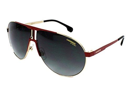 Carrera Men's Ca1005s Aviator Sunglasses, Red Gold/Dark Gray Gradient, 66 - Sunglasses Carrera Red