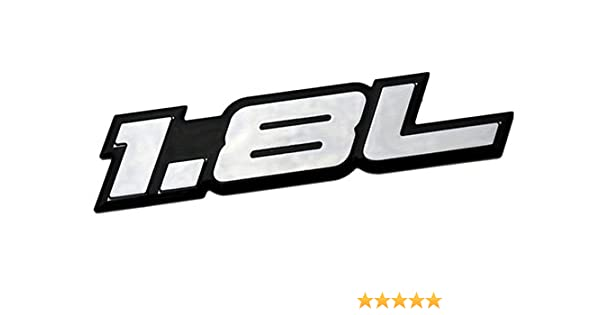 Amazon.com: 1.8L Liter Embossed SILVER on Black Highly Polished Silver Real Aluminum Auto Emblem Badge Nameplate for Dodge Caliber Chevrolet Chevy Cruze LS ...