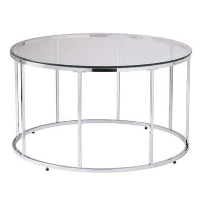 Amazon Com Metal Coffee Table With Glass Top Round Coffee Table