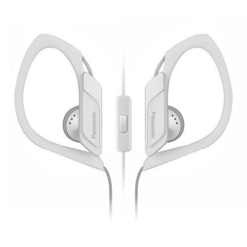 Panasonic Earbud Ipod (Panasonic Sports Clip Earbud Headphones with Mic/Controller RP-HS34M-W (White))