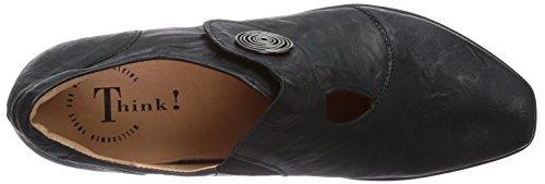 Mujer Bee Negro Zapatos tacón de Think 4qwIZ4