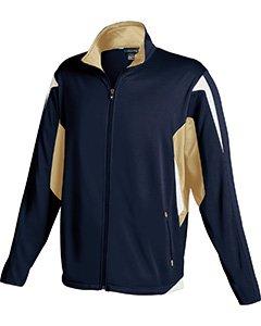 Holloway Youth Dedication Jacket , Navy|Vegas Gold, large by Holloway