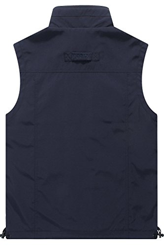 Mr.Stream Men's Quick Drying Outdoor Sports Gilet Lightweight Mountain Fishing Active Sleeveless Vest 3XL Blue by Mr.Stream (Image #6)