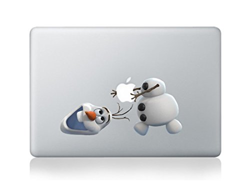Character Snowman - Frozen Snowman Olaf Cartoon Character Decal Sticker for Macbook Laptop Air Pro Retina 13 15 17 Inch Cool