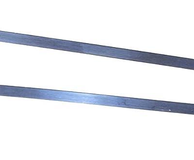 "Argentium Sterling Bezel Silver 3/32 Inch 30 Gauge (.010"") 2 Feet from uGems"