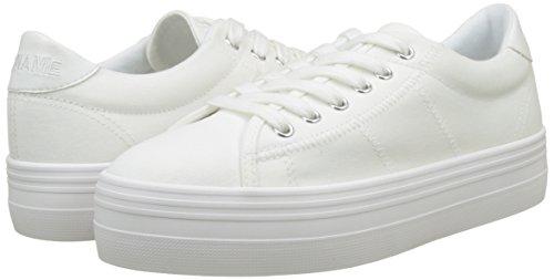 Blanc Noname White Sneaker Plato Donna Fox Basse Canvas white 6qpzqwSX