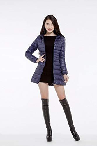 Blu Ultra Cappotto Cappuccio Outwear Full Mogogo Navy Packable Leggero Giù Il Plus Peso Zip size Delle Con Donne wgqzaqf0