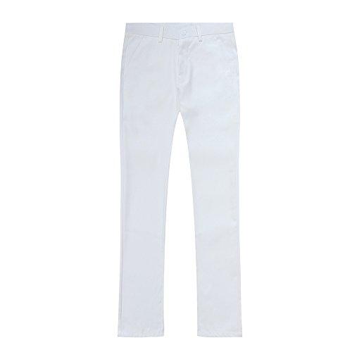 due Costume Giacca Bianco a Matrimonio pantaloni Business Slim Cerimonia Fit e Suit Uomo pezzi In rXw1vxrq