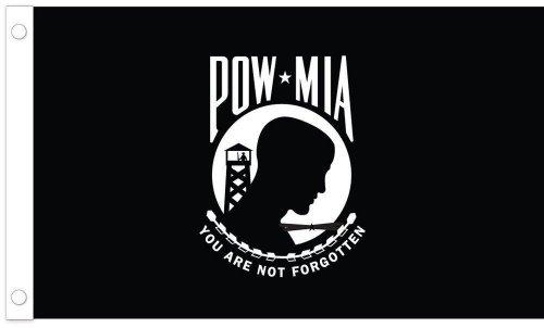 2' Media (Black POW MIA Flag (2' x 3'))
