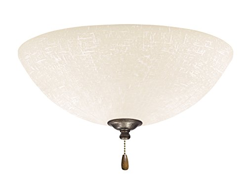 Emerson Ceiling Fans LK83VS White Linen Light Fixture for Ceiling Fans, Medium Base CFL