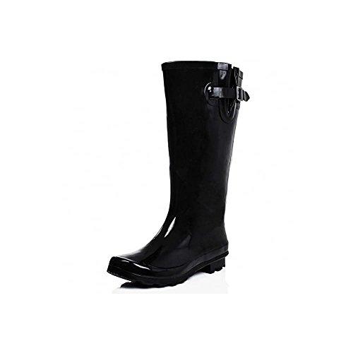 extra wide calf rain boots - 9