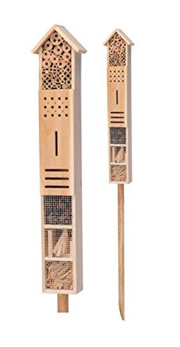 Insektenhotel XXL mit Erdspieß - 79 cm x 15 cm x 10 cm - Stand Insektenhaus