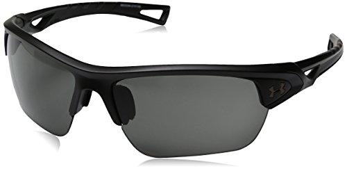 (Under Armour Wrap Sunglasses, UA Octane Satin Black Frame/Gray Lens, M/L)