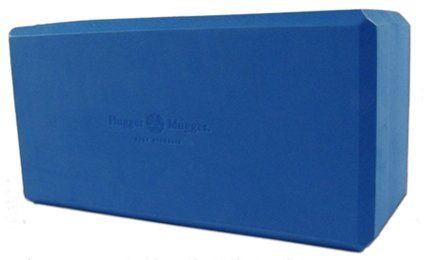 "Hugger Mugger Big Blue Yoga Block, 5"" Foam"