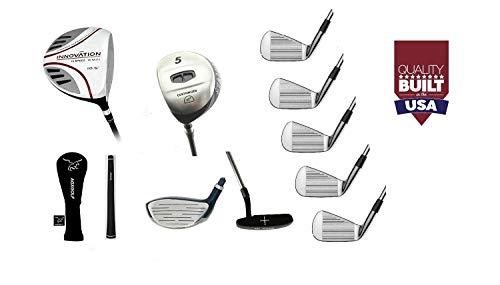 AGXGOLF Mens Left Hand Extra Tall Length Tour EX Edition Golf Club Set wOverSize 460cc Driver + 5 Wood & #7 Utility Wood + 3, 5, 7 & 9 Irons + PW + Putter: USA Built! ()