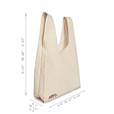 (Set Of 3) Eco Friendly Reusable Bag Organic Cotton T-Shirt Tote Grocery Market And Beach Bags For Shopping, Beach Trips, Picnics, Tailgates, School, Gym, Toy