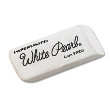 Paper Mate® White Pearl® Eraser ERASER,WHITE PEARL,WE (Pack of15)