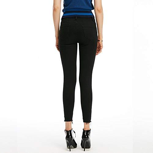 M Hosen Femme Schlanke Taille MVGUIHZPO abgetragene Schuhe und schmale Kleine Jeans hohe Jeans Jeans Kleine 6wBOOcqxaS