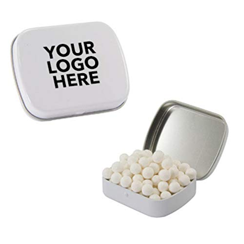 #ST02 Small Tin Mints - 125 QTY - $1.50 EA - Promotional Product/Custom/Your Logo/Low Minimums, Peppermints