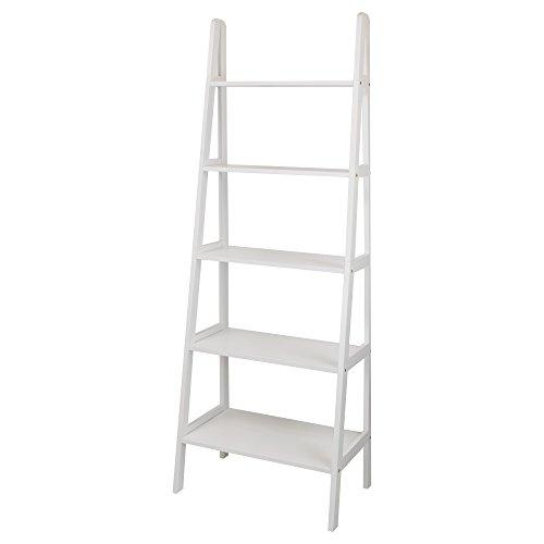 Casual Home 176-51 5-Shelf Ladder Bookcase, White