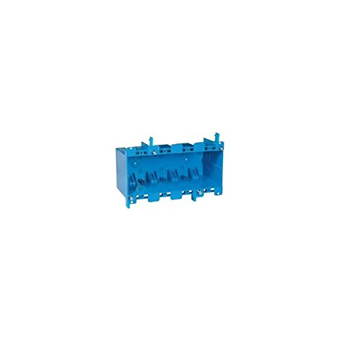 Thomas & Betts B468R Four Gang Blue Old Work Outlet Box
