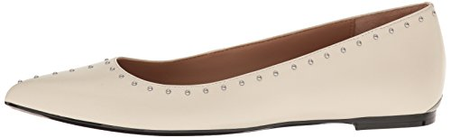 Calvin Klein Women's Genie Pointed Toe Flat, Soft White, 8 M US by Calvin Klein (Image #5)