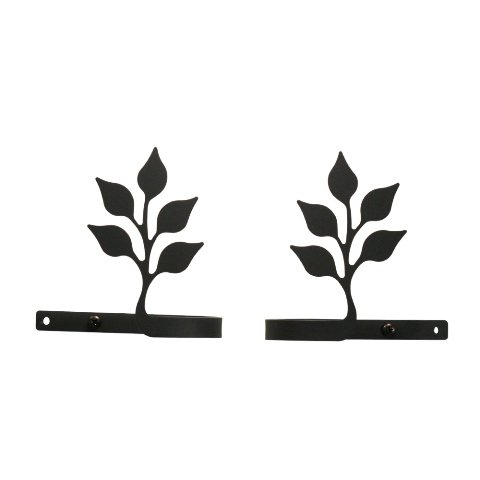 4.5 Inch Leaf Curtain Tie Backs from Village Wrought Iron