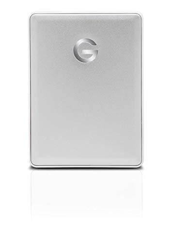 G-Technology 2TB G-Drive Mobile USB-C (USB 3.1 Gen 1) Portable External Hard Drive, Silver - 0G10339 (Best Portable Hard Drive 2019)