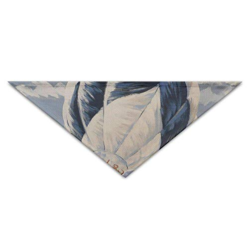 LODRR Pet Scarf, Hot Air Balloon Art.JPG Dog Bandanas Scarves Triangle Bibs Scarfs Design Basic Dogs Neckerchief Cat Collars Pet Costume Accessory Kerchief Holiday Birthday -