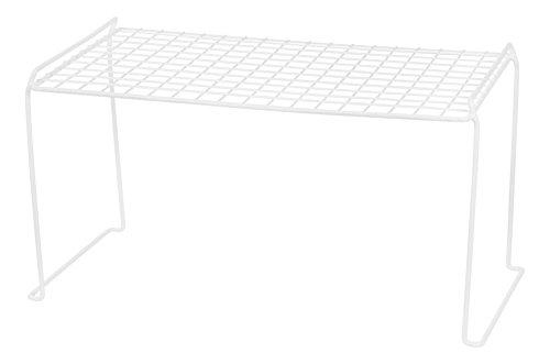 IRIS Heavy Duty Wire Stacking Shelf, White, 6 Pack by IRIS USA, Inc.