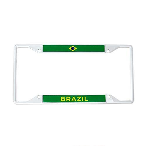(Desert Cactus Country of Brazil Flag License Plate Frame for Front Back of Car Vehicle Truck Brazilian)