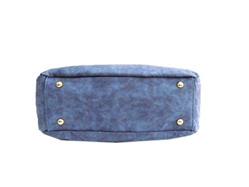 Borsa donna modello tracolla grande linea Cinammon Laura Biagiotti 104-07 jeans