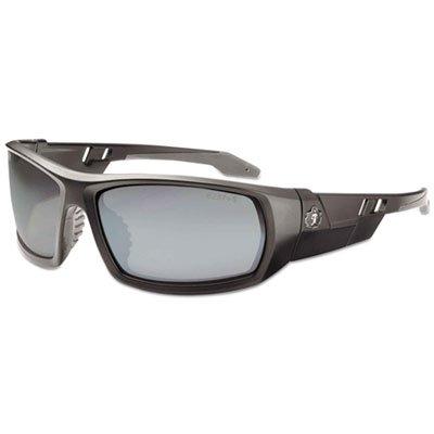 Skullerz Odin Safety Glasses, Matte Black Frame/Silver Lens, Nylon/Polycarb