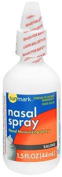 Sunmark Nasal Spray Saline - 1.5 oz, Pack of 5