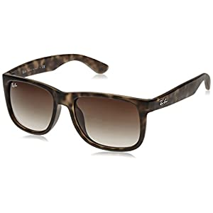 Ray-Ban Sunglasses - RB4165F Justin / Frame: Light Havana Rubber Lens: Brown Gradient 54mm